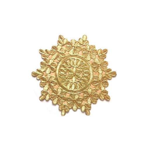 8ff46b3ef90a2 Designer Saree Golden Patch