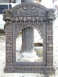 Antique Wooden Jharokha, Size/Dimension: 36 H X 24 W