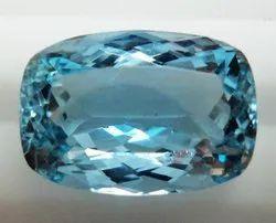 Aquamarine Faceted Cushion Gemstone