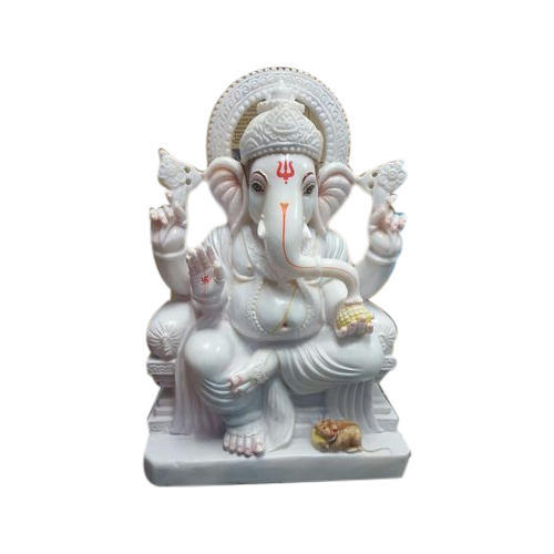Grp Marbles White Marble Ganesha Statue Packaging Type Box Rs
