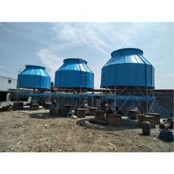 Single Phase FRP Bottle Type Cooling Tower, Cooling Capacity: 15 Tr, 1 Hp