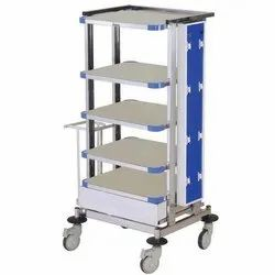 Power Coated Monitor Trolley