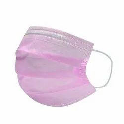 Disposable 3 Ply Pink Earloop Face Mask