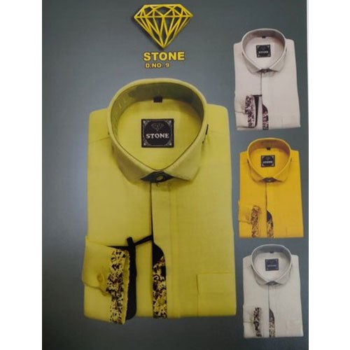 Mens Printed Party Wear Cotton Shirt
