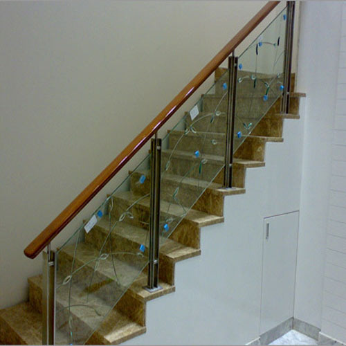 Steel Stair Glass Railing At Rs 390 Square Feet Stainless Steel