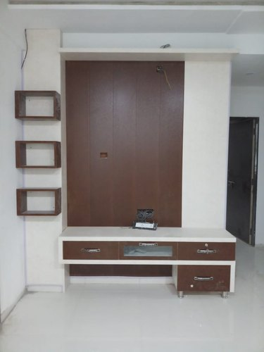 Tv Unit Design Wall Mounted: Wall Mounted PVC TV Unit, For Home, Warranty: 1 Year