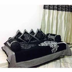 Black Chenille Diwan Set
