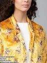 Mustard Floral Velvet Blazer