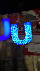 U Shape Crystal Letter