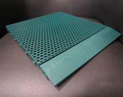 Green Synthetic PU Interlocking Sports Flooring Tile