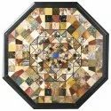 Marble  Octagonal Inlay Coffee Table Top