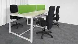 Open Desk Workstation Without Drawer