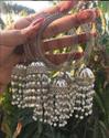 Ritu Crafts & Creations Oxidised Bangles With Long Moti Jhumka