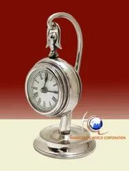 Analog Stainless Steel Table Clock