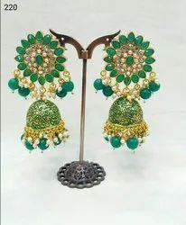 Wedding Light Blue Designer Earrings Jhumkas