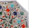 Pietra Dura Marble Octagonal Dining Table Top