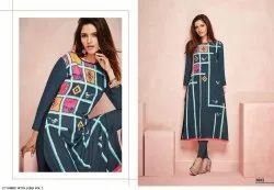 Woman Stitched Ladies Rayon Kurta, Aura