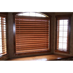 Wooden Brown Horizontal Blind