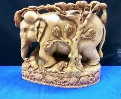 Wooden Carving Tree Elephant