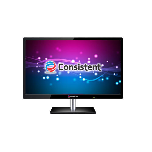 Consistent Black 18.5 Inch Slim LED Monitor With HDMI, CTM1902
