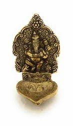 Gold Plated Ganesh Deepak
