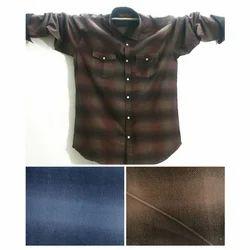 Mens Long Sleeves Cotton Check Shirt
