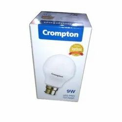 Ceramic Round Crompton LED Bulb, For Indoor, 200V-250V