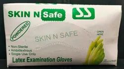 Latex Examination Gloves (Non Sterile, White Coloured, Disposable)