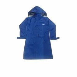 Regular Fit Nylon, Polyester Long Coat