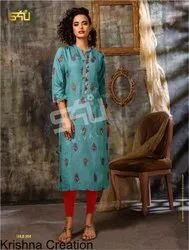 S4U Launch Gold Vol 2 Occasional Gold Print Kurtis