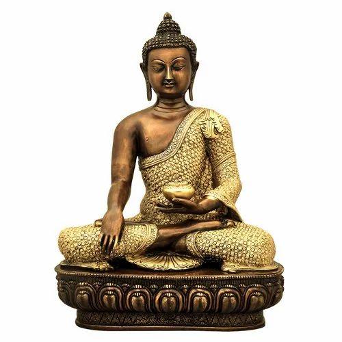 Brass Buddha Statue 24 Inch