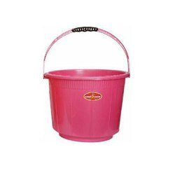 Maruti Trading Round Plastic Red Bucket