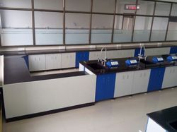 White And Blue Industrial Lab Furniture
