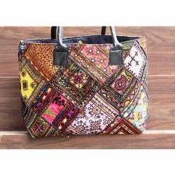 Women's Vintage Banjara Embroidery Shoulder Bag