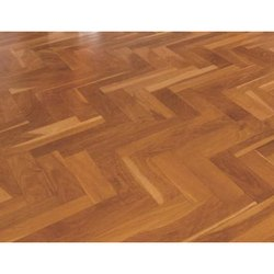 Brown Wood Wooden Laminate Flooring, Thickness: 10 - 15 Mm