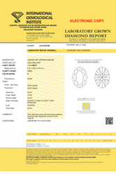 Oval Cut 1.71ct IGI Certified Diamond H VVS2  Lab Grown Type2A