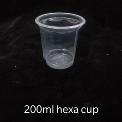 200 ML Hexa Disposable Glass