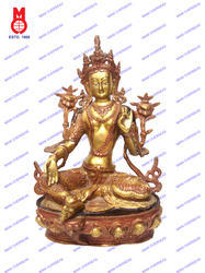 Green Tara Sitting Statue