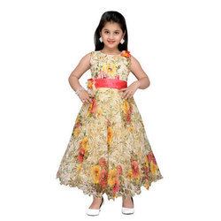 2caa4c96f0767 Party Wear Floral Kids Gown, Rs 675 /piece, Shri Shantinath Trading ...
