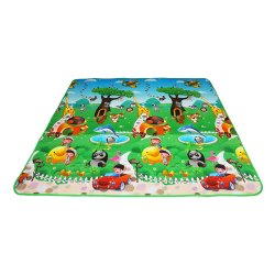 Ethnic Kids Waterproof Alphabets and Fruits Learning Play Mat