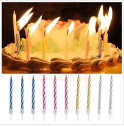Multicolor Magic Relighting Birthday Candle