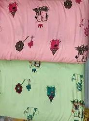 Slub Rayon Printed Fabric