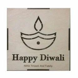 Square Happy Diwali Wooden Box