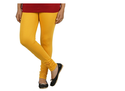 Yellow Colour Full Length Cotton Lycra Leggings