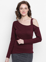 Ladies One Side Shoulder Full Sleeves T-Shirt