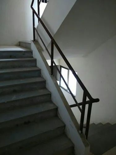 Balcony Polished SS Railing for Home, Mounting Type: Floor ...