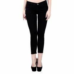Stretchable Ladies Jeans Black