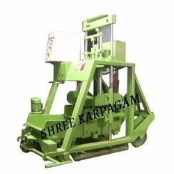 Single Vibrator Solid Block Making Machine