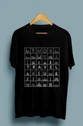 Travel Mens Round Neck T Shirt