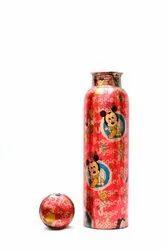 Printed Copper Bottle, Capacity: 1000ml